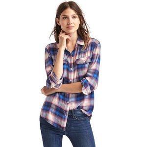 GAP + Pendleton Boyfriend Plaid Shirt Size XL